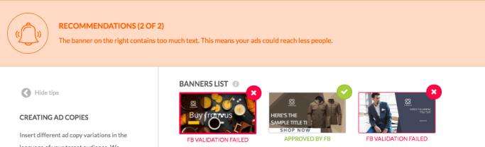 facebook廣告設計工具-廣告橫幅圖像文字檢測